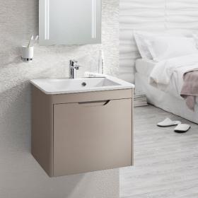 Bauhaus Solo Matt Coffee Vanity Unit & Basin