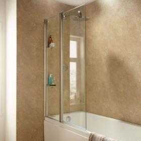 Sommer Extended Square Bath Screen With Fixed Panel