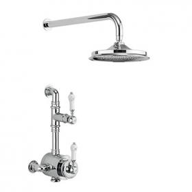Burlington Stour Exposed Shower Valve With Shower Rose & Arm