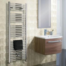 Bauhaus Stream 500mm Curved Panel Towel Rail
