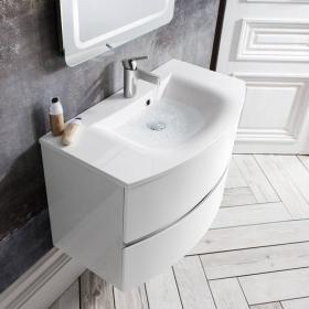 Bauhaus Svelte 80 White Gloss Vanity Unit & Basin