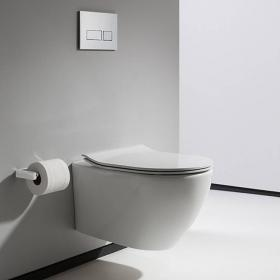 Bauhaus Svelte White Wall Hung WC & Soft Closing Seat
