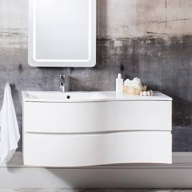 Bauhaus Svelte 120 White Gloss Vanity Unit & Basin