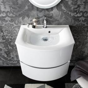 Bauhaus Svelte 60 White Gloss Vanity Unit & Basin