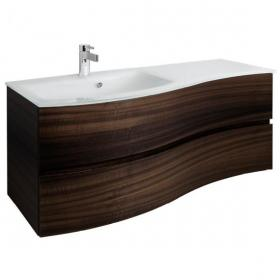 Bauhaus Svelte 120 Eucalyptus Vanity Unit & Ice White Glass Basin