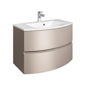 Bauhaus Svelte 80 Matt Coffee Vanity Unit & Basin