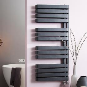 Bauhaus Svelte Metallic Black Matte Towel Rail