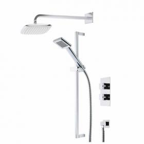 Roper Rhodes Event Square Dual Function Shower System With Head