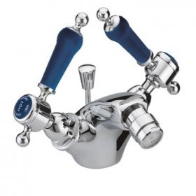 Heritage Glastonbury Midnight Blue 1 Tap Hole Chrome Bidet Mixer