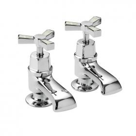 Heritage Gracechurch Mother Of Pearl Bath Pillar Taps