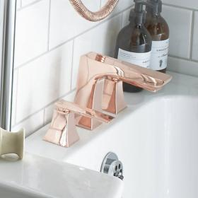Heritage Hemsby Rose Gold 3 Tap Hole Bath Filler