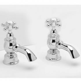 Heritage Hartlebury Chrome Bath Pillar Taps
