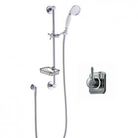 Burlington Classic 1910 Digital Shower Valve, Slide Rail Kit & Soap Basket