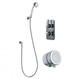 Burlington Classic 1910 Digital Bath/Shower Valve With Handspray & Overflow Filler