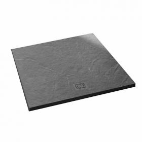 Merlyn Truestone Slate Black 900 x 900mm Square Shower Tray & Waste