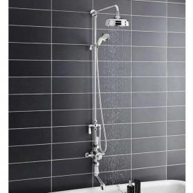 Hudson Reed Topaz Triple Exposed Shower Valve With Rigid Riser & Bath Spout