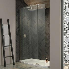 Kudos Ultimate 2 1700 x 700mm Curved Walk In Shower & Tray