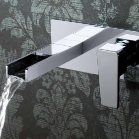 Vado Synergie Wall Mounted 2 Hole Basin Mixer