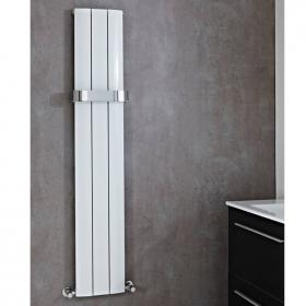 Phoenix Vega Tall White Designer Radiator With Towel Rail