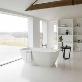 Clearwater Vicenza Grande Clear Stone Freestanding Bath