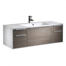 Roper Rhodes Vista White/Dark Elm 1200mm Wall Mounted Unit & Basin