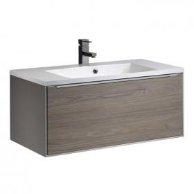 Roper Rhodes Vista Taupe/Dark Elm 900mm Wall Mounted Unit & Basin