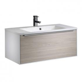 Roper Rhodes Vista White/Light Elm 900mm Wall Mounted Unit & Basin