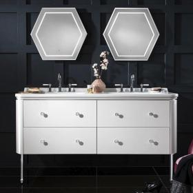 Bauhaus Waldorf 150 Gloss White Double Vanity Unit & Basin