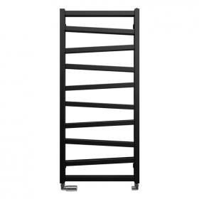 Bauhaus Wedge 500mm Metallic Black Matte Towel Rail