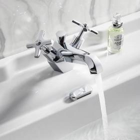 Crosswater Waldorf Chrome Crosshead Basin Monobloc