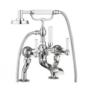 Crosswater Waldorf White Lever Bath Shower Mixer With Kit
