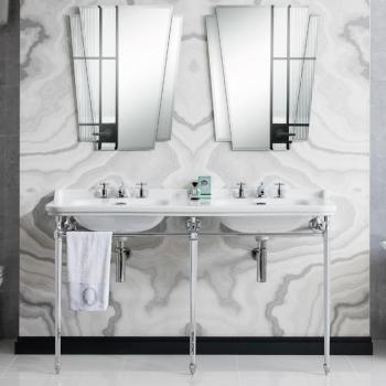 Bauhaus Waldorf 150 Double Three Tap Hole Basin Console