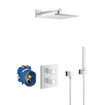 Grohe Grohtherm 3000 Cube Rainshower & Handset Pack