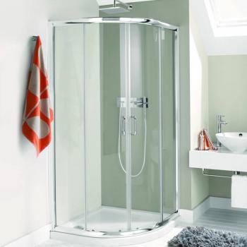 Simpsons Supreme Luxury Curved 900mm Twin Door Quadrant Shower Enclosure & Tray
