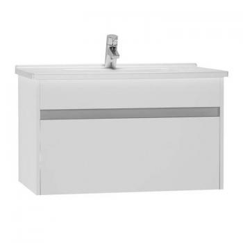 Vitra S50 800mm Gloss White Single Drawer Vanity Unit & Basin