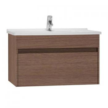 Vitra S50 800mm Oak Single Drawer Vanity Unit & Basin