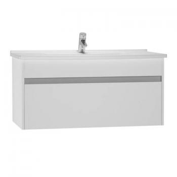 Vitra S50 1000mm Gloss White Single Drawer Vanity Unit & Basin