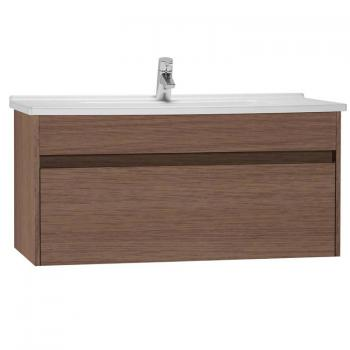 Vitra S50 1000mm Oak Single Drawer Vanity Unit & Basin