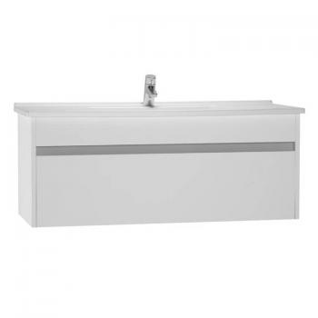 Vitra S50 1200mm Gloss White Single Drawer Vanity Unit & Basin