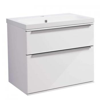 Roper Rhodes Scheme 600mm Gloss White Wall Mounted Vanity Unit & Basin