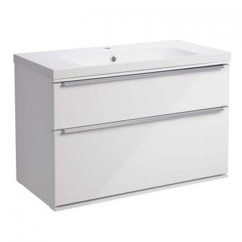 Roper Rhodes Scheme 800mm Gloss White Wall Mounted Vanity Unit & Basin