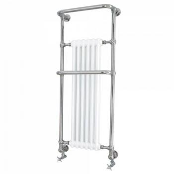 Heritage Cabot Chrome Wall Hung Heated Towel Rail