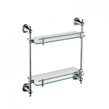 Heritage Holborn Chrome Double Glass Shelf