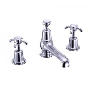 Burlington Anglesey 3 Tap Hole Basin Mixer With Pop Up Waste