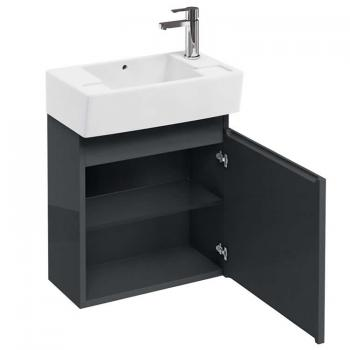 Aqua Cabinets Compact 30.5 Anthracite Wall Mounted Cloakroom Vanity Unit
