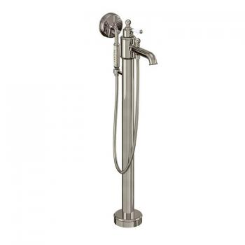 Arcade Nickel Floor Standing Single Lever Bath Filler