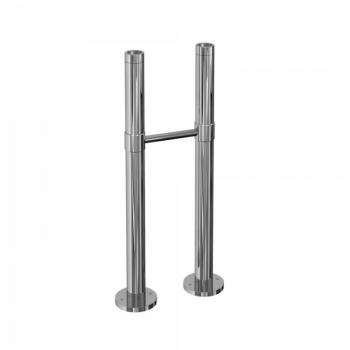 Arcade Chrome Exposed Standpipes With Support Bar