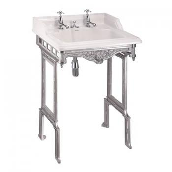 Burlington Classic Basin With Invisible Overflow & Waste With Wash Stand