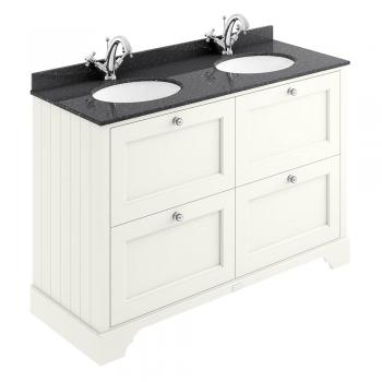 Bayswater Pointing White 1200mm 4 Drawer Vanity Unit & Marble Top