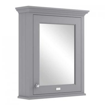 Bayswater Plummett Grey 600mm Mirror Wall Cabinet